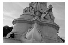 Boys on Statue