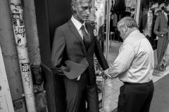 Man Dressing Mannequin