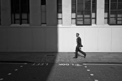 Man Walking Look Left
