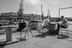 Two Guys at Docks Bristol